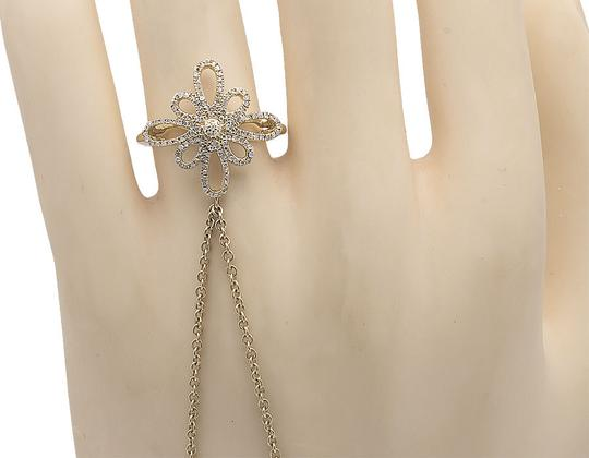 Other Flower Round Diamond Slave Style Ring Chain Bracelet 2ct