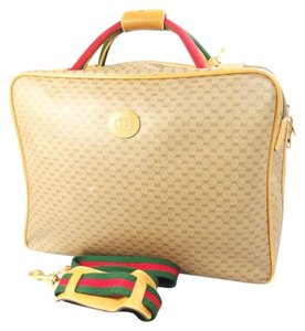 Gucci Suitcase Luggage Italy Brown Travel Bag