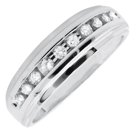 Preload https://img-static.tradesy.com/item/21067751/10k-white-gold-mens-1-row-channel-set-genuine-diamond-wedding-band-025ct-ring-0-1-540-540.jpg