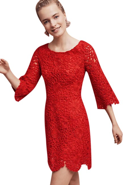 Preload https://item2.tradesy.com/images/anthropologie-red-lamarche-lace-scalloped-shift-by-tracy-reese-short-cocktail-dress-size-10-m-21067831-0-1.jpg?width=400&height=650