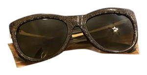 Gucci Gucci sliver and gold glitter cat eye sunglasses
