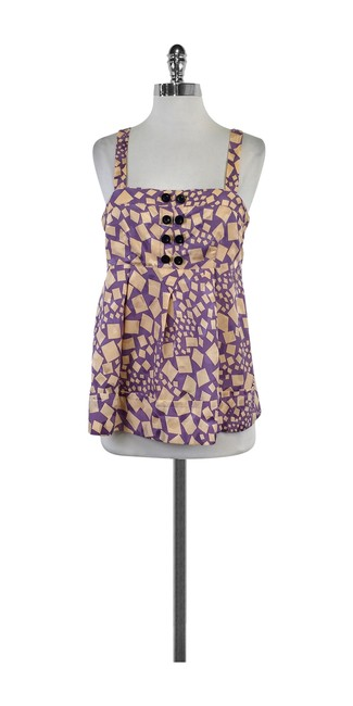 Preload https://item4.tradesy.com/images/marc-by-marc-jacobs-purple-and-blush-print-sleeveless-blouse-size-6-s-21067968-0-0.jpg?width=400&height=650