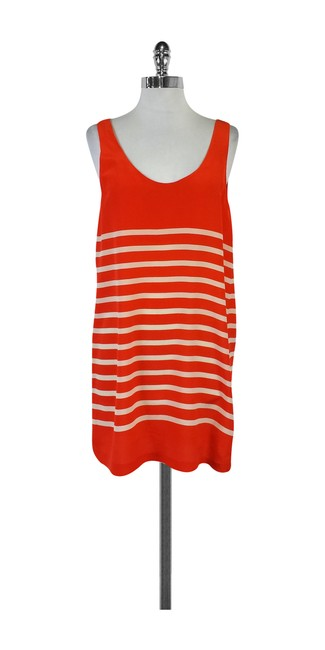 Preload https://img-static.tradesy.com/item/21067994/joie-orange-and-beige-striped-tank-short-casual-dress-size-4-s-0-0-650-650.jpg