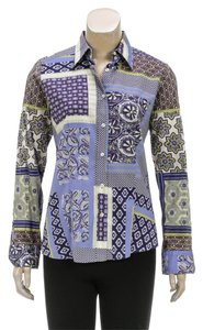 Etro Button Down Shirt Purple/Multicolor