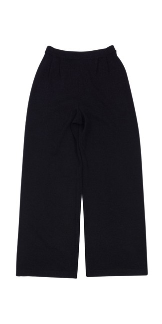 St. John Black Knit Trouser Pants