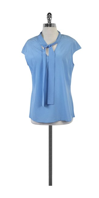 Preload https://item5.tradesy.com/images/st-john-blue-baby-sleeve-silk-blouse-size-8-m-21068099-0-0.jpg?width=400&height=650