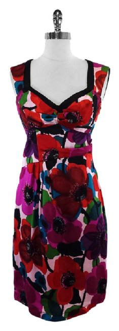 Nanette Lepore short dress Multi Color Floral Silk Sleeveless on Tradesy