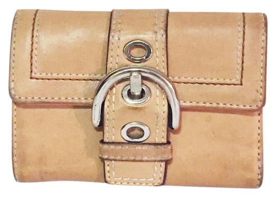 Coach coach vintage buckle snap button small wallet