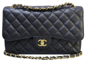 Chanel Caviar Dounle Flap Shoulder Bag