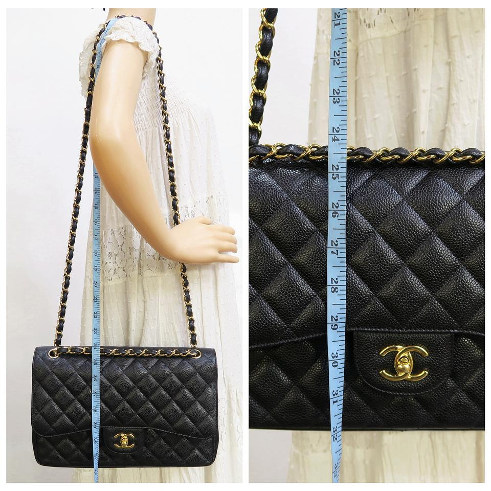 df2070ffd2145 Chanel Caviar Classic Jumbo Double Flap Shoulder Bag