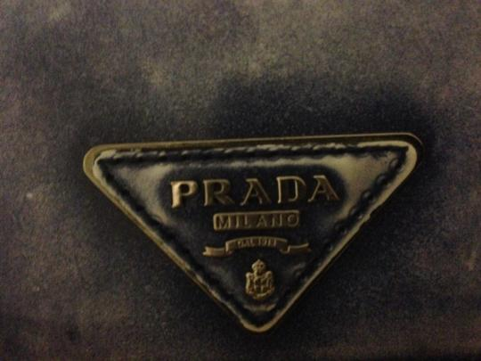 Prada Prada Blue Leather Continental Wallet