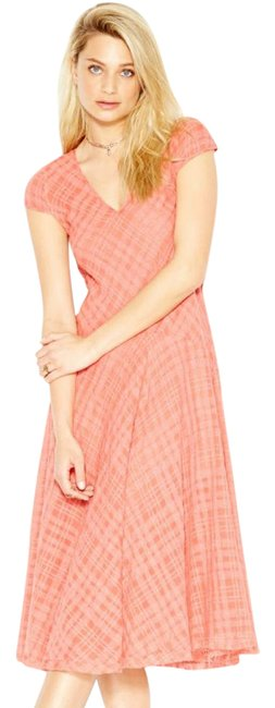 Preload https://img-static.tradesy.com/item/21068190/free-people-coral-priscilla-plaid-midi-in-mid-length-casual-maxi-dress-size-2-xs-0-2-650-650.jpg