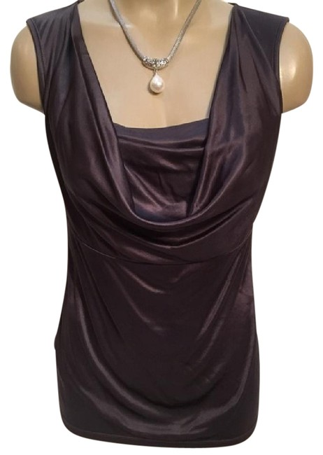 Preload https://item3.tradesy.com/images/ann-taylor-taupe-draped-neck-blouse-size-petite-4-s-21068197-0-1.jpg?width=400&height=650