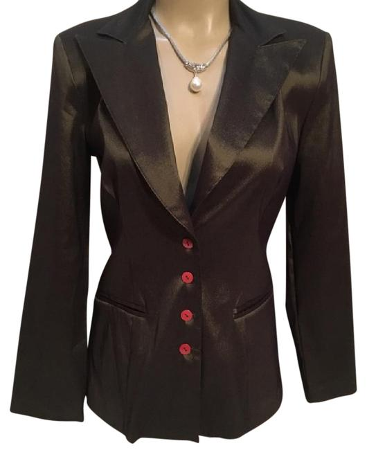 Preload https://item5.tradesy.com/images/angie-olive-green-shiny-blazer-size-6-s-21068209-0-1.jpg?width=400&height=650