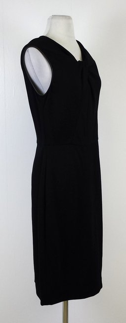 Jason Wu short dress Black Leather Trimmed Sleeveless on Tradesy