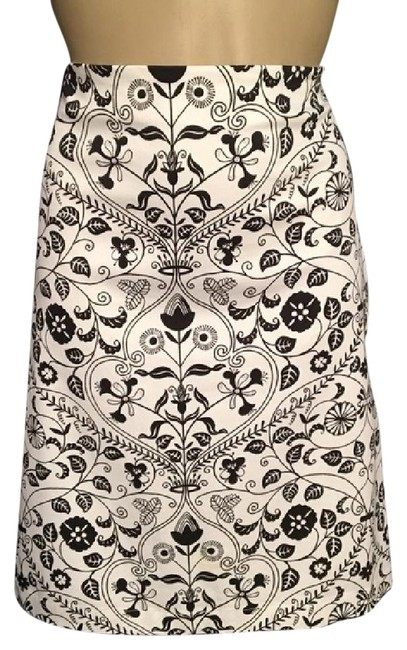 Preload https://img-static.tradesy.com/item/21068272/ann-taylor-black-and-white-floral-print-knee-length-skirt-size-4-s-27-0-1-650-650.jpg