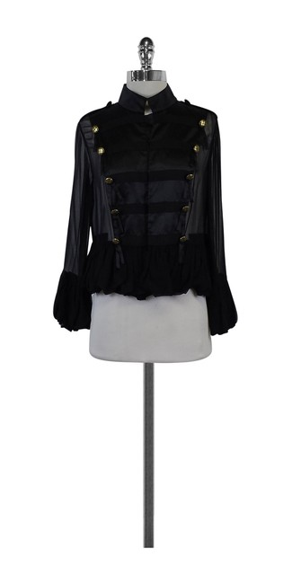 Preload https://img-static.tradesy.com/item/21068284/trelise-cooper-black-silk-military-size-10-m-0-0-650-650.jpg