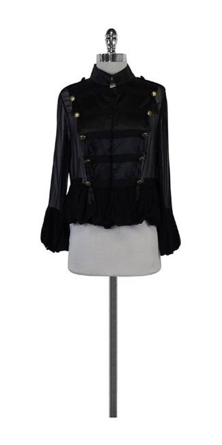 TRELISE COOPER Silk Military Black Jacket
