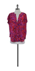 Joie Multi Color Abstract Print Silk Top