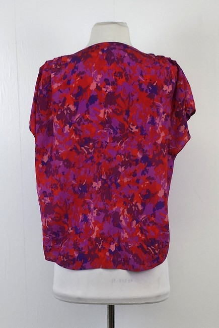 Joie Color Abstract Print Silk Top Multi