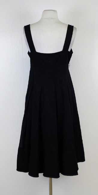 Burberry short dress Black Rope Trim V-neck Cotton on Tradesy