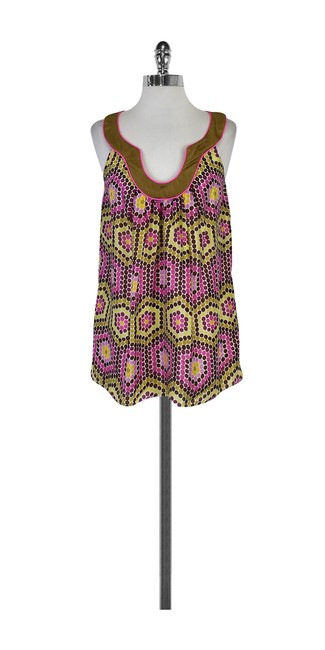 Preload https://img-static.tradesy.com/item/21068354/milly-pink-and-yellow-purple-print-silk-blouse-size-4-s-0-0-650-650.jpg