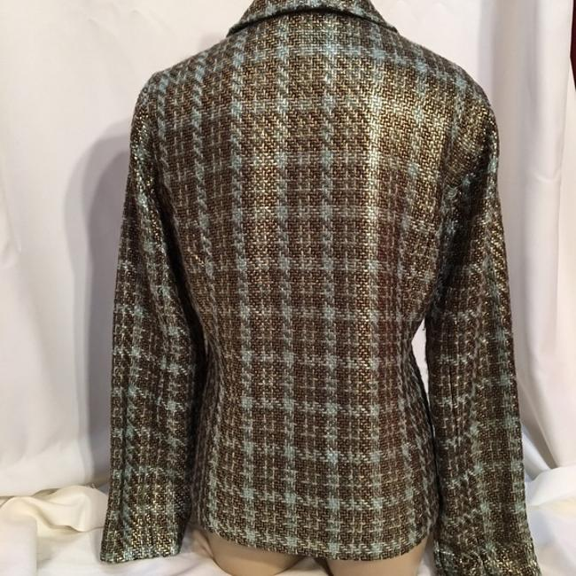 Chico's Brown & Blue Blazer