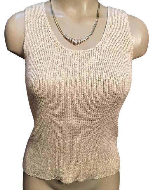 Preload https://item1.tradesy.com/images/ann-taylor-tan-ribbed-knit-lame-threaded-blouse-size-2-xs-21068435-0-1.jpg?width=400&height=650