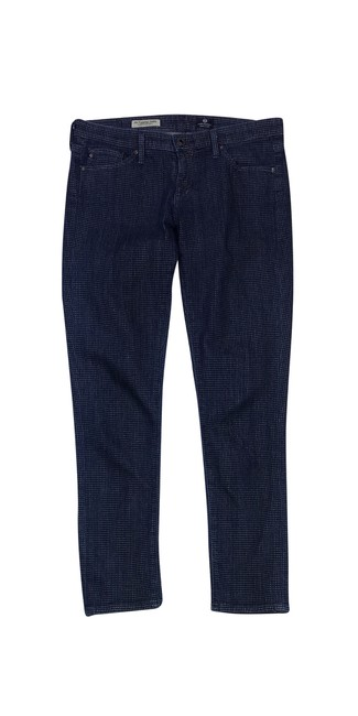 Preload https://item4.tradesy.com/images/ag-adriano-goldschmied-blue-and-white-square-print-straight-leg-jeans-size-29-6-m-21068513-0-0.jpg?width=400&height=650