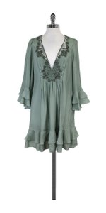 Rebecca Taylor short dress Seafoam Green Ruffled Silk on Tradesy