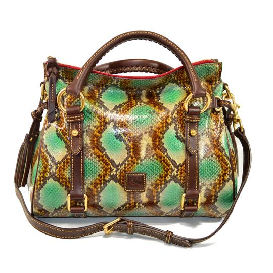 Preload https://item3.tradesy.com/images/dooney-and-bourke-small-python-emb-green-leather-satchel-21068552-0-0.jpg?width=440&height=440