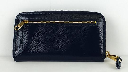 Badgley Mischka Blue Patent Leather Wallet