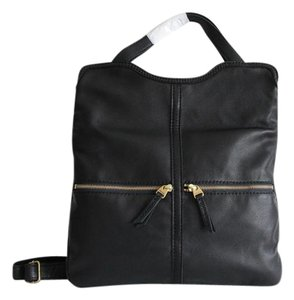 Fossil Leather Erin Tote in Black