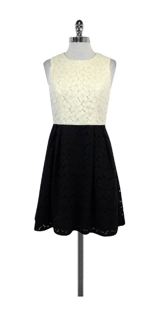 Shoshanna short dress Cream & Black Lace Color on Tradesy