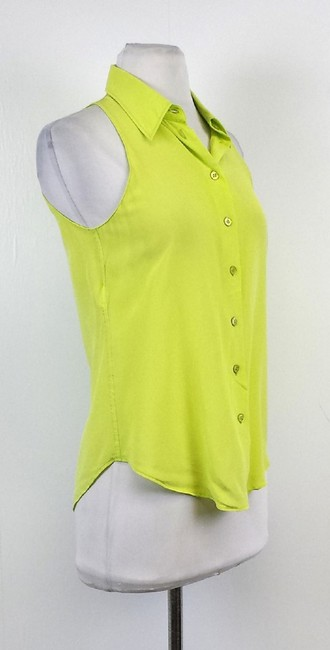 Moschino Lime Button Top Green