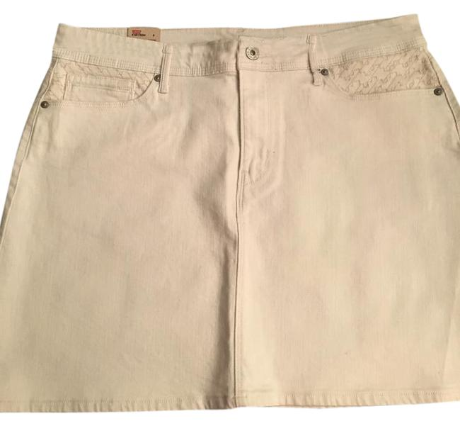 Levi's Mini Irregular Mini Skirt Ivory or cream