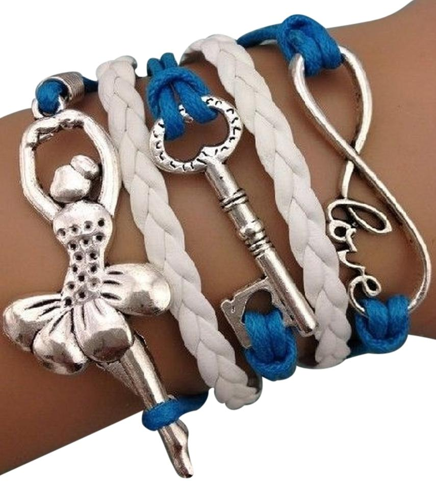Other Infinity Love Key Ballerina Charm Bracelet