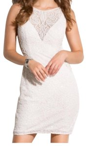 Scala Bridal Mini Beaded Sequin Dress