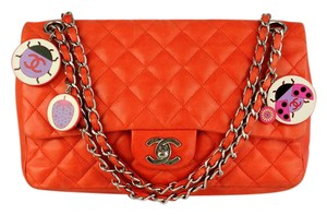 Chanel Quilted Lambskin Ladybug Flap Shoulder Bag