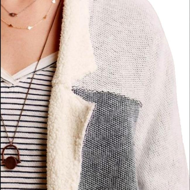 Anthropologie Super Soft Ultimate Comfort Faux Leather Trim Breathable + Warm Super Cute In Person Cardigan