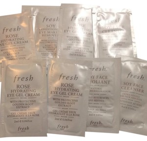 fresh Fresh Skincare Rose Eye Gel Soy Cleanser Samples