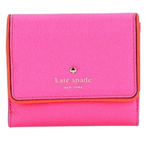 Kate Spade NWT KATE SPADE COBBLE HILL TAVY WALLET CARD CASE CLUTCH PINK ORANGE