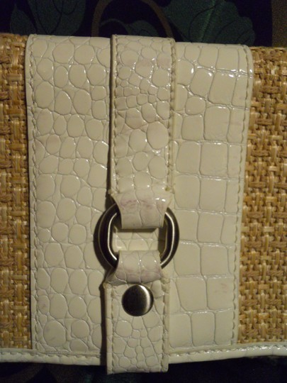 Cole Haan Leather white & tan Clutch
