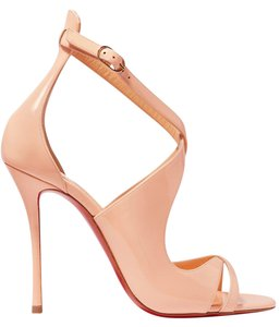 Christian Louboutin Malefissima 100mm New Leather pastel pink. poudre Sandals