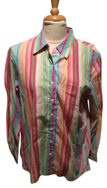 Preload https://item4.tradesy.com/images/talbots-spring-stripes-button-down-top-size-12-l-2106908-0-0.jpg?width=400&height=650
