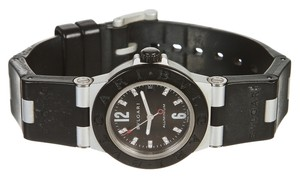 BVLGARI Bvlgari Black Aluminium and Rubber Watch AL32T