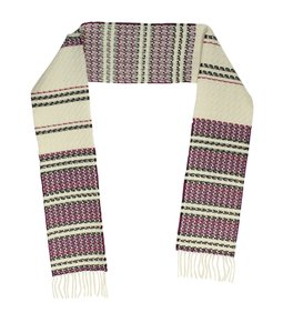 Burberry Burberry Multi-Color Fringe Wool Scarf (119845)
