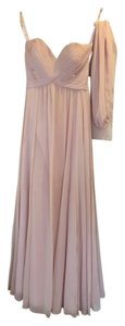 Mori Lee Blush Chiffon Strapless Formal Bridesmaid/Mob Dress Size 6 (S)