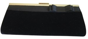 Banana Republic Black Velvet Clutch