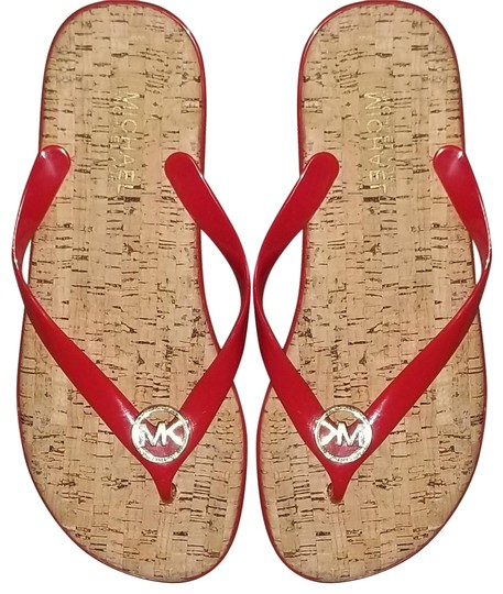 Preload https://img-static.tradesy.com/item/21069180/michael-kors-red-and-gold-jelly-thong-with-tone-signature-mk-charm-sandals-size-us-8-regular-m-b-0-2-540-540.jpg